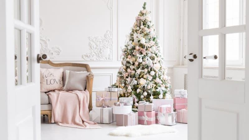 decorar navidad estilo romantico